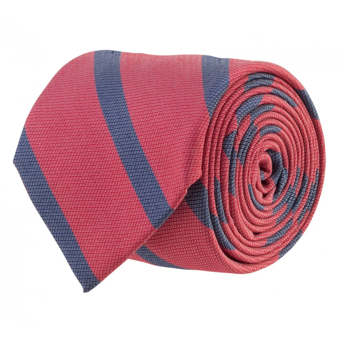 Single Stripe Bar Tie: Red and Navy